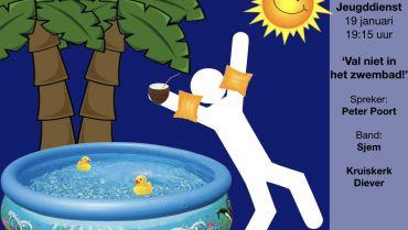 Jeugddienst 'val niet in het zwembad!'